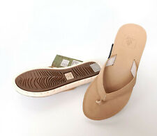 Reef Voyage Leather Zehentrenner Damen Gr 36 Women Kids RA2YFM-NAT Slipper SALE