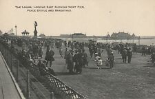 """""""Hundred Year old photo postcard from collection"""" The Lawns. West Pier, peace st"""