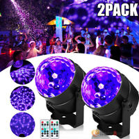 2x 120° LED Disco Light Stage DJ Ball Laser Projector Lamp Music Party RGB Home