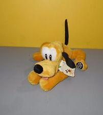 "9"" Disney Themepark Ed Mickey's Pal Laying Out Pluto Bean Stuffed Plush w/ Logo"