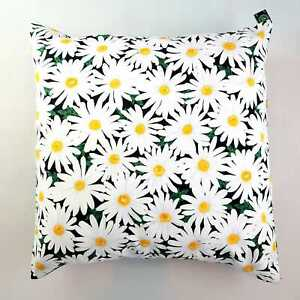 "Daisy Flower Floral Cushion Cover Decorative Trendy Case fits 18"" x 18"""