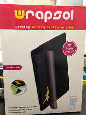 WRAPSOL-PMPAP011-SO Anti-Glare Privacy Screen Protector Film For iPad 2, NEW