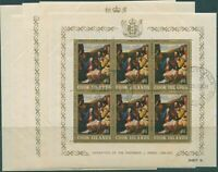 Cook Islands 1966 SG194-198 Christmas p12x13 sheets set FU