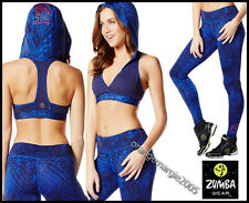 ZUMBA 2Pc.Set! Tri-Me Long Leggings +Oh MY Hoodness Racerback Bra Top~EliteZWear