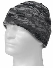 Subdued Urban Digital Camo Winter Watch Cap - Acrylic Digi Camouflage Ski Hat