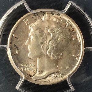 1938-S 10C FB Mercury Dime PCGS MS66FB        83591842