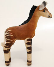 Original Steiff Okapi with Raised Silverscript Button