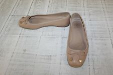 Tory Burch Laila Leather Driver Ballet Flats, Women's Size 7 M, Beige