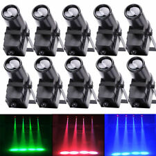 10PCS 30W RGBW LED Spotlight Stage Lighting DMX512 Pinspot Beam DJ Disco Party