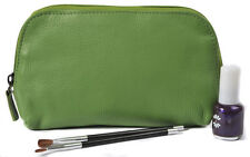 Apple Green Leather Cosmetic Case by Shona Easton