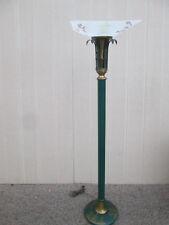 58845  Mid Century Modern Oriental Torch Lamp Pole Lamp