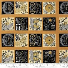 BEE INSPIRED Fabric Panel / Moda Fabric with 4.5 Squares, Labels