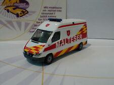 """Herpa 927703 - Mercedes-Benz Sprinter 99 HB """" Malteser """" in weiß-rot-gelb 1:87"""