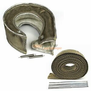 T6 Turbo S400 S480 Heat Shield Blanket + 2'' 50FT Exhaust Header Wrap Tape
