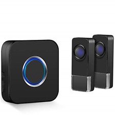 Coolqiya Wireless Doorbells Chimes Kit for Home with 2 Remote Door Bell