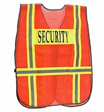 Security Safety Vest with Reflective Strips, One Size Fits All