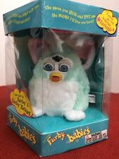Electronic Furby Babies Green White Tiger 1999, No.70-940 New Old Stock