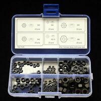 Hex Nuts M2 M2.5 M3 M4 M5 M6 120pcs Assortment Kit Black Oxide with Box