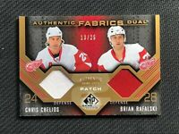 2007-08 SP GAME USED CHELIOS/RAFALSKI AUTHENTIC FABRICS DUAL PATCH #ed 13/25