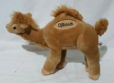 Aurora Plush Camel 14 Inches Long Stuffed Animal Embroidered Djibouti Standing