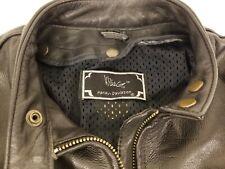 Harley Davidson Willie G Vintage Sz 38 Black Leather Motorcycle Jacket w/ Fringe