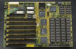 BioStar MB-1212V AT 286 motherboard - Loaded with RAM - NO CPU - UNTESTED READ