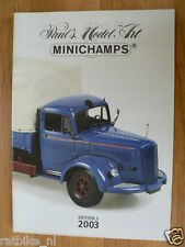 MINICHAMPS EDITION 2 2003 MODELS, MERCEDES-BENZ L6600 TRUCK COVER,SUPERBIKES
