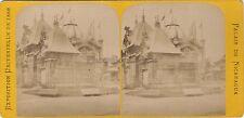 Palais du Nicaragua Exposition Universelle de Paris 1889Stereo Vintage albumine