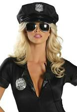 Cop Police Officer Hat Patrol Badge Costume Black Men's Women's CH105 Roma