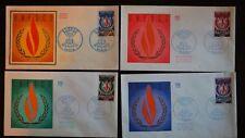 TIMBRE, LOT DE 4 ENVELOPPES PREMIER JOUR D'EMITION 1971, UNESCO