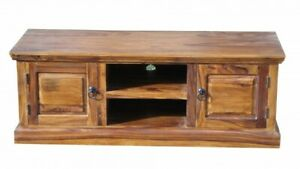 Wooden TV Cabinet Stand/Unit with 2 Doors & 2 Shelves from Sheesham Wood