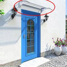 Auvent - Marquise de porte en polycarbonate DIY 60X100cm anti-soleil
