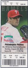 Roy Halladay Win # 202 Ticket 8/25/2013 - Unused!