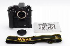 【SN193***TOP MINT】 Nikon F3 HP 35mm SLR  w/ MD-4 AH-3 Strap From Japan