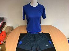 Nike Dri-FIT Running Lauf-Set, Gr. M, blau, Top!!!