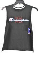 Champion Women's Athletics Muscle Logo Tank Top, Black, Size L, $25, NwT