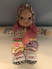 Goldberger Zip-Ity Do Dolly Soft Toy Doll Teaching Learning Snap Tie Button Zip