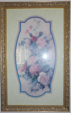 home interior picture of roses - set of 2 vintage