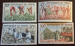 1963 NIGER - Groundnut Cultivation Campaign Mint Airmail Scott C31-34