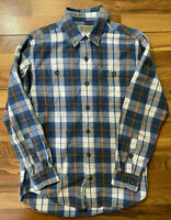 Duluth Trading Co Shirt Men's Medium Mid-Weight Flannel Cotton LS Button Up GUC