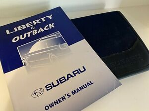 SUBARU Liberty & Outback Owners Manual and Case 2001 as NEW