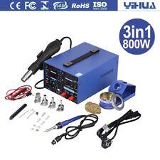 YiHua 800W 3in1 Lötstation Lötkolben Heißluft 240V 480℃ Digital Regelbar 853D EU