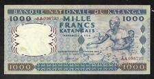 Katanga - Scarce 1000 Francs Note - 1962 - P14 - XF Condition