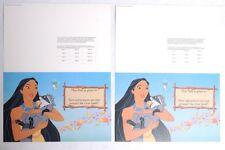 ESZ8225. Lot of 2: Disneyland & Disney World ADMISSION PASS Pocahontas (1996) ~
