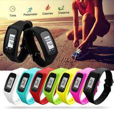 LCD Digital Pedometer Wrist Step Run Walking Distance Calorie Counter Watch HOT