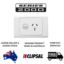 Clipsal 2000 Series 10A Single Powerpoint (2015WE)