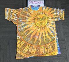 Vintage Sun T-Shirt All Over Print Liquid Blue Tag Xl Made in Usa