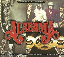 "ALABAMA, 3 CD SET ""TRIPLE FEATURE"" NEW SEALED"