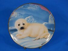 """Franklin Mint """"Snow Pup"""" Limited Edition Plate by Wepplo"""