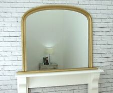 Victoria French Ornate Style X Large Overmantle Gold Leaf Wall Mirror
